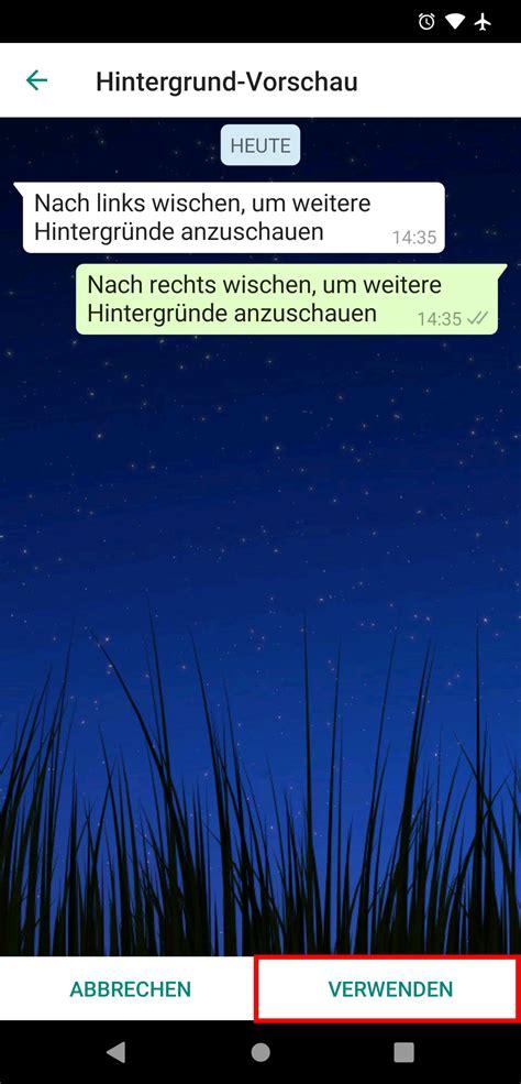 whatsapp hintergrund aendern  gehts