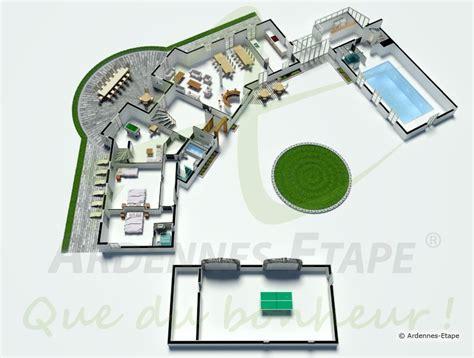 plan de maison avec piscine interieure 2 villa de luxe