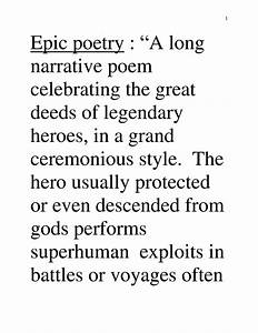 Epic poem definition and example - Google Search | Poetry ...