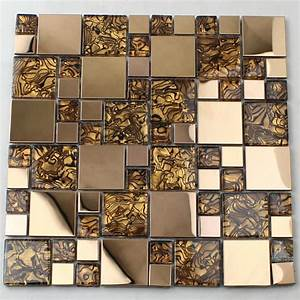 Crystal glass tiles sheet mosaic art wall stickers kls