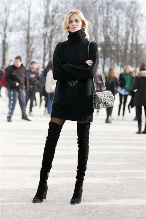Anja Rubik Over The Knee Boots Paris Style