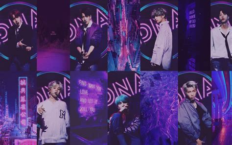 bts purple aesthetic wallpapers