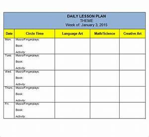 10 sample preschool lesson plan templates sample templates With nursery lesson plan template