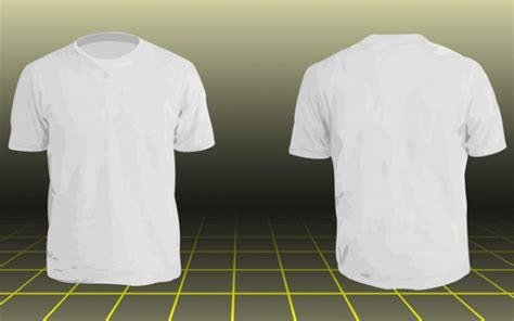 Tshirt Basic Template by Photoshop Men Basic T Shirt Template