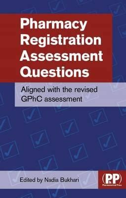 Pharmacy Questions by Pharmacy Registration Assessment Questions Bukhari