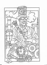 Steampunk Airship Coloring Kleurplaten Anniversaire Mandala Gratis Malvorlagen 공부 색칠 Hat Carte Mon Adult Printable Gears Sheets стимпанк Template sketch template