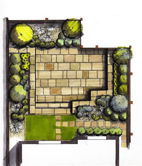landscape plan view a small garden in sussex design create grow