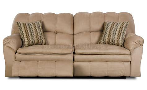 Microfiber Reclining Sofa And Loveseat by Hazelnut Microfiber Reclining Sofa Loveseat W Pillow Arms