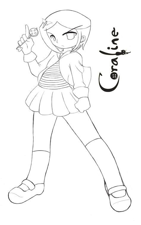 coraline coloring pages    print