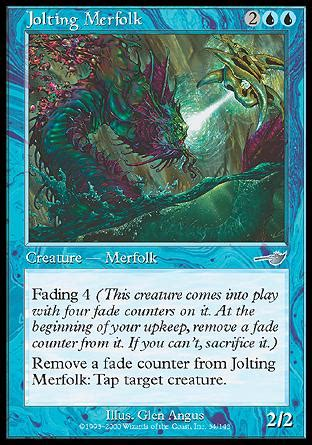 mtg merfolk deck standard jolting merfolk nemesis magic the gathering single