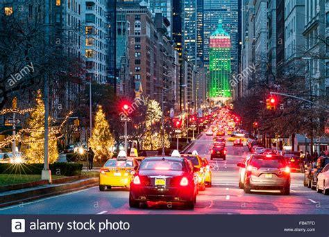 new york street park avenue new york city christmas