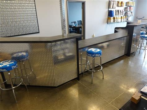 Hand Made Industrial Reception Desk Or Sales Counter by