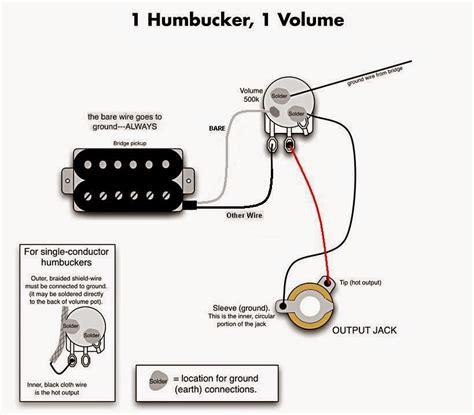 Single Humbucker Single Volume Wiring by Cara Membuat Up Active Guitar Sendiri Indis