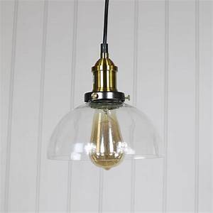 Clear glass dome industrial pendant ceiling light melody