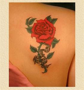 Rose on back shoulder (wing bone/scapula) tattoo ...