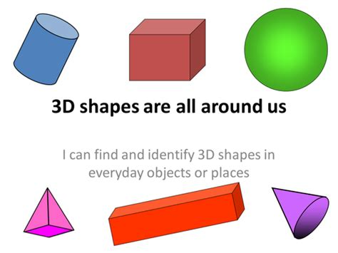3d Shapes : 3d Shapes All Around Us By Evans_sian