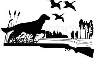 Duck Hunting Dogs Vector Art