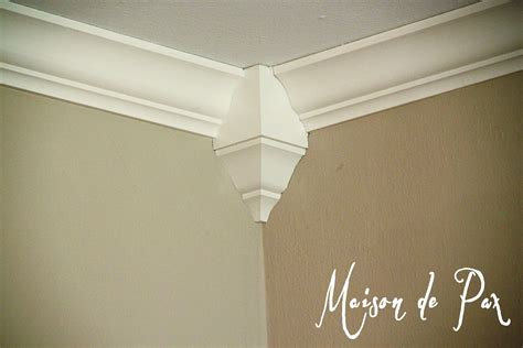 crown molding corners installing crown molding maison de pax