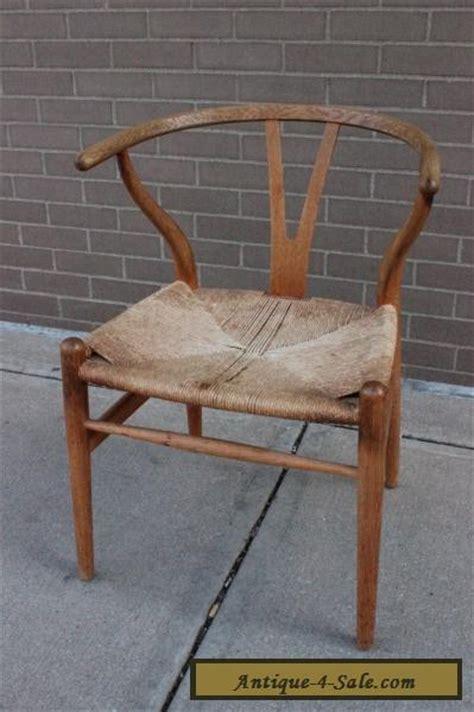 hans wegner ch24 wishbone chair oak frame authentic mid