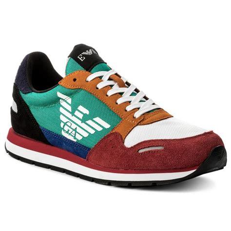 sneakers emporio armani xx xl  scarlet multicolor sneakers  shoes mens