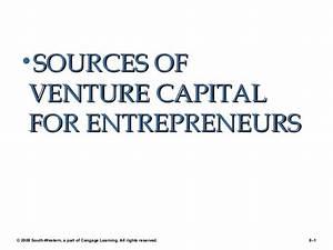 Entrepreneur sources of venture capital