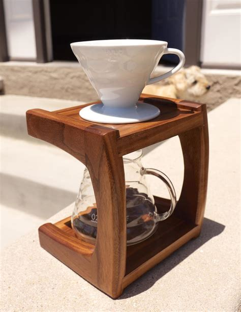 Not only do our customers taste the lake of the woods coffee at this location, but are able to choose delicious food items from our breakfast and lunch menu. Walnut Coffee Pour Over Stand - The Wood Whisperer