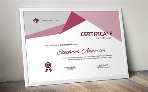 word docx certificate template stationery templates