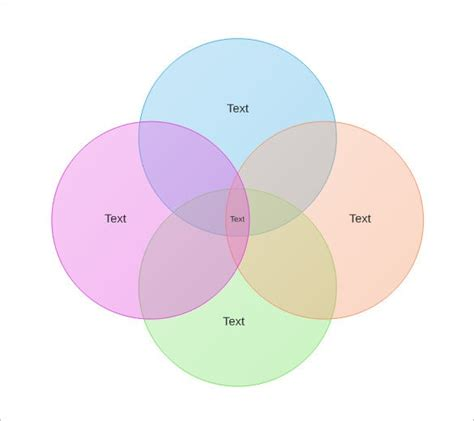 circle venn diagram templates   word  format