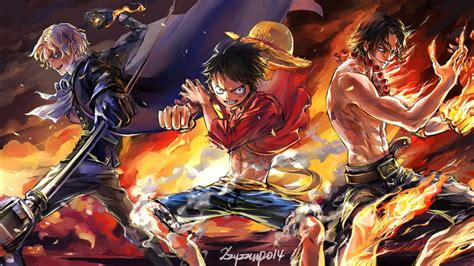 piece luffy ace sabo wallpaper