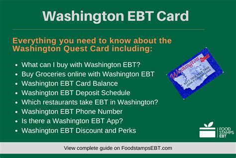 ebt washington card questions quest guide stamps