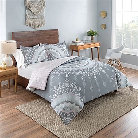 20731 grey bedding sets vue mira reversible comforter set in grey bed bath beyond