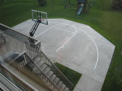 How Much Does A Backyard Basketball Court Cost by Tom S Backyard Court Backs Right Up To His House His