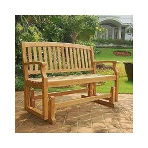 outdoor glider bench teak outdoor glider bench wooden garden seat patio