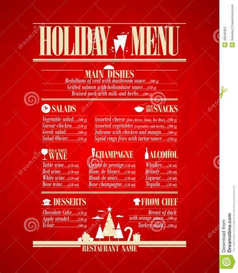 cuisine menu list restaurant menu design template in newspaper style