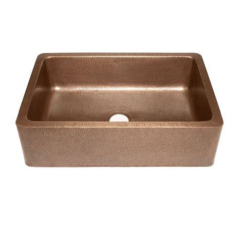hammered kitchen sink single bowl copper kitchen sink front apron hammered 1536
