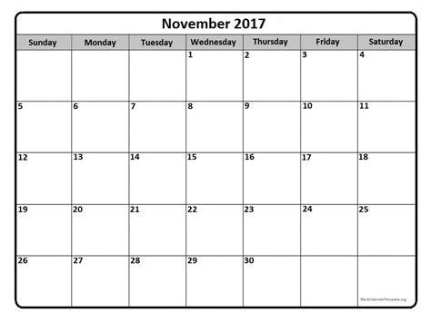 free blank calendar template 2017 calendar template november 2017 calendar november 2017 calendar printable free