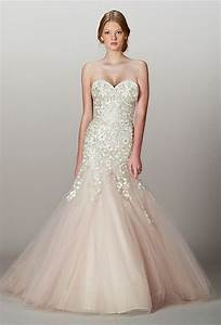 blush wedding dress dressed up girl With blush wedding dress