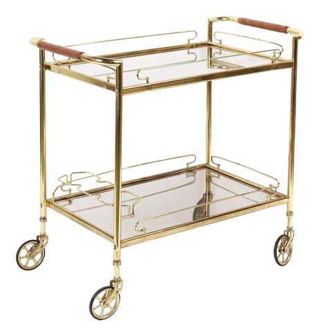 Rolling Bar by Brass Glass Rolling Bar Cart Chairish
