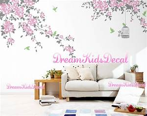 Nursery wall decal sticker elegant floral tree for