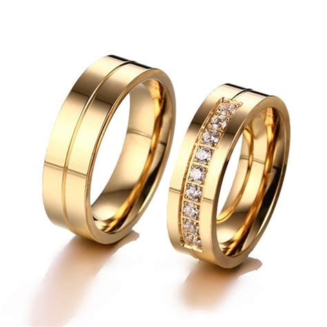 aliexpress com buy h hyde trendy wedding bands rings for men love gold color cz