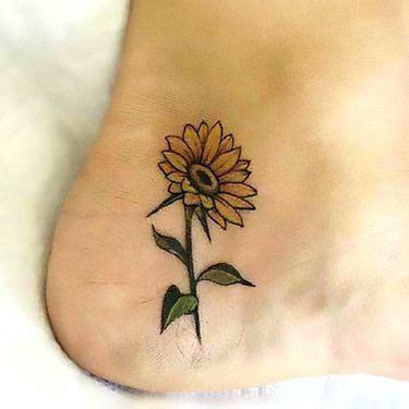 sunflower tattoo small ideas  pinterest sunflower tattoos sunflower drawing