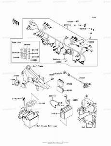 Kawasaki Motorcycle 2012 Oem Parts Diagram For Chassis