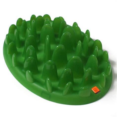 green interactive slow dog feeder