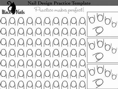 Nail Practice Templates Sheet Nails Cat Template