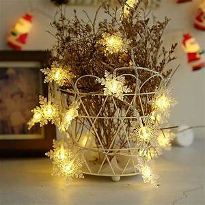 5m, 40, Led, Snowflake, Light, String, Window, Christmas, Christmas, Party, Holiday, Romantic, Decoration