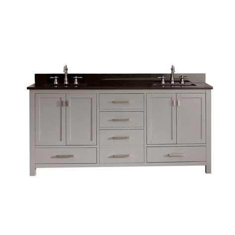 72 inch sink bathroom vanity in chilled gray with