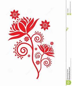 Lotus flower pattern stock vector. Illustration of ...