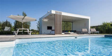 Moderne Poolhäuser modern poolhouse in trespa bogarden