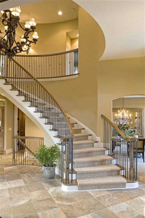 willoughby luxury home  traditional staircase
