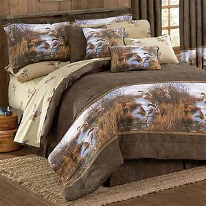 Camouflage Comforter Sets: Full Size Duck Approach